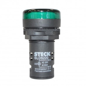 Luz Piloto Led 30mm 220V Verde IP65