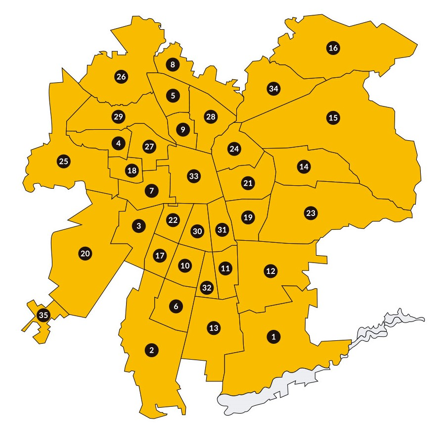 Mapa Región Metropolitana
